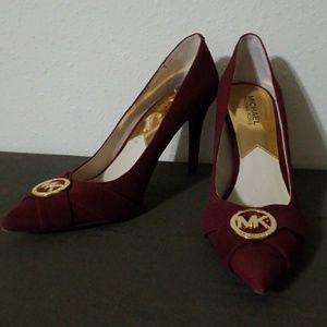 Michael Kors ruby, plum high heels
